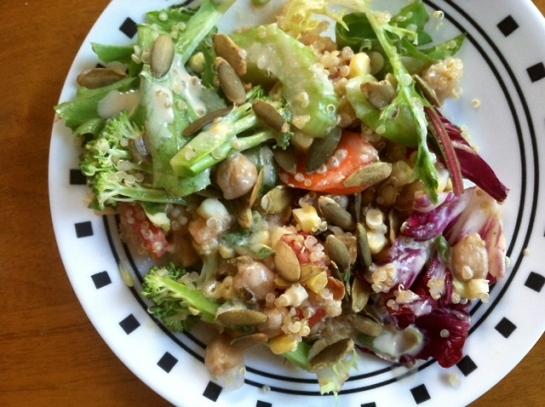 vegan kitchen sink salad